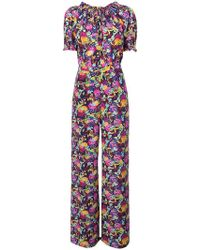 Saloni - Julia Printed Jumpsuit - Lyst