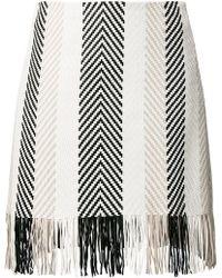 DROMe - Woven Fringe Skirt - Lyst