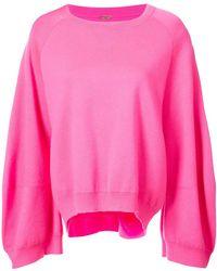 Adam Lippes - Oversized Sleeve Sweatshirt - Lyst