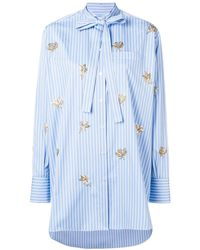 Valentino Embroidered Floral Detail Shirt