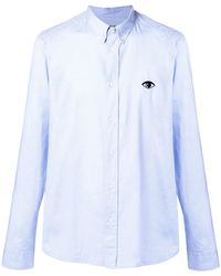KENZO - Eye-embroidered Button-down Shirt - Lyst