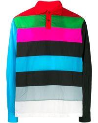 Xander Zhou Stripe Panel Polo Shirt