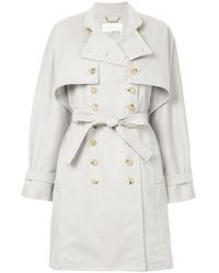 Chloé - Double Breast Trench Coat - Lyst