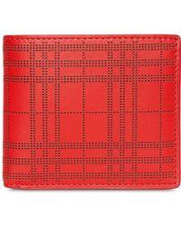 Burberry - Portafoglio bi-fold a quadri - Lyst