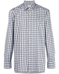 Kiton - Checked Button Shirt - Lyst