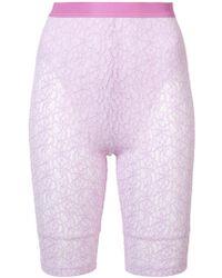 Nina Ricci - Lace Biker Shorts - Lyst