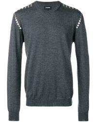 Les Hommes - Eyelet Detail Knitted Sweatshirt - Lyst