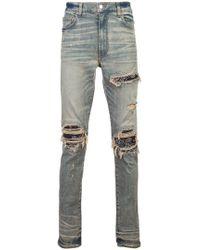 Amiri - Ripped Layered Skinny Jeans - Lyst