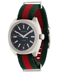 Gucci - Metallic GG2570 Web Strap Stainless Steel Watch - Lyst