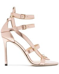 3e6e172e3cc Jimmy Choo - Rose Gold Motoko 100 Leather Sandals - Lyst
