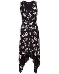 Proenza Schouler - Asymmetric Floral Dress - Lyst