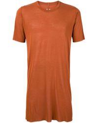 Rick Owens - Longline Crewneck T-shirt - Lyst