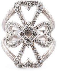 Loree Rodkin | Diamond Maltese Cross Midi Ring | Lyst