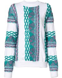 AALTO - Patterned Round Neck Jumper - Lyst