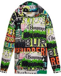 Burberry - Oversized Logo Print Hoodie - Lyst