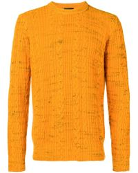 Roberto Collina - Cable Knit Crew Neck Sweater - Lyst