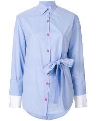 Eudon Choi - Tie Waist Shirt - Lyst