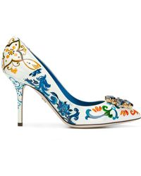 Dolce & Gabbana Majolica-print Bellucci Court Shoes