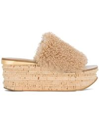 814549cb6e2c Lyst - Chloé Camille Wedge Sandals in Pink