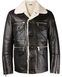 DSquared² - Lambs Fur Trimmed Jacket - Lyst