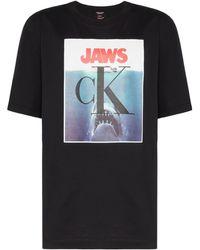 CALVIN KLEIN 205W39NYC - Jaws Logo Print T-shirt - Lyst
