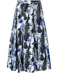 Marni - Leaf Print Full Skirt - Lyst