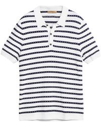 Burberry - Striped Knitted Polo Shirt - Lyst