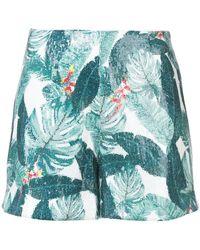 Rachel Zoe - Leaf Pattern Shorts - Lyst