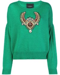 John Richmond - Embroidered Appliqué Sweater - Lyst