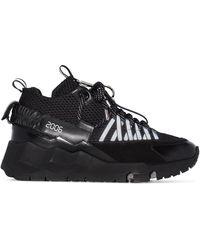 Pierre Hardy - Black Vc1 Leather Low Top Sneakers - Lyst