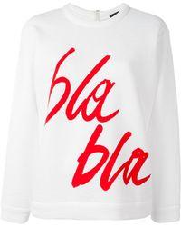 ODEEH - Bla Bla Print Sweatshirt - Lyst
