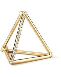 Shihara - Diamond Triangle Earring 20 (03) - Lyst