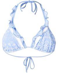 Ermanno Scervino - Broderie Anglaise Bikini Top - Lyst
