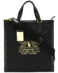 Ralph Lauren - Logo Embroidered Tote - Lyst