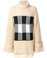J.W.Anderson - Check Panel Sweater - Lyst