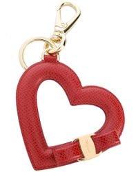 Ferragamo   Vara Bow Heart Keyring   Lyst