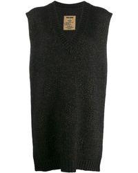 Uma Wang ノースリーブ セーター - ブラック