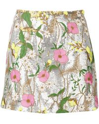 Piccione.piccione - Sequin Embellished Mini Skirt - Lyst