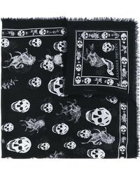 Alexander McQueen - Skull And Badge Scarf - Lyst