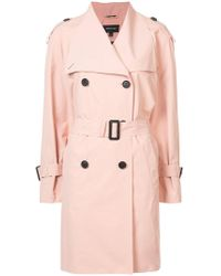 Mackage - Double Breasted Trench Coat - Lyst