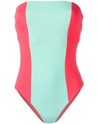 Angelys Balek - Strapless Swimsuit - Lyst