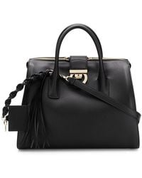 2f6b35c4198 Lyst - Gucci Lady Lock Leather Top Handle Bag in Black