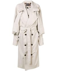 Y. Project - Draped Front Oversized Trench Coat - Lyst
