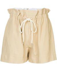 Bassike - Drawstring Paper-bag Shorts - Lyst
