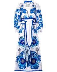 Yuliya Magdych - Belted Embroidered Dress - Lyst