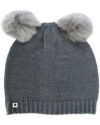 Twin Set - Faux Fur Pom Pom Beanie - Lyst