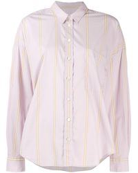 Closed - Striped Button Shirt - Lyst