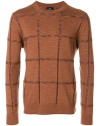 PS by Paul Smith - Textured Crew Neck Jumper - Lyst
