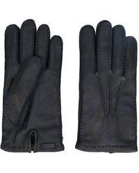 Prada - Handschuhe mit Kontrastnaht - Lyst
