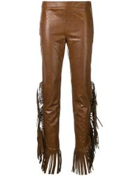 Giamba - Fringed Sides Trousers - Lyst